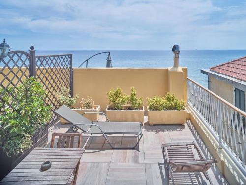 A balcony or terrace at Hotel Medusa