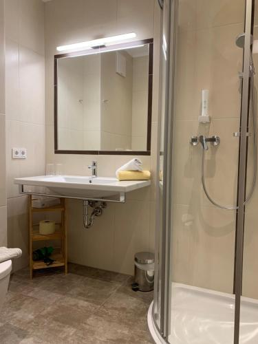 Koupelna v ubytování La Montana