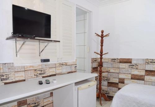 A cozinha ou cozinha compacta de Pousada Recanto do Amanhecer