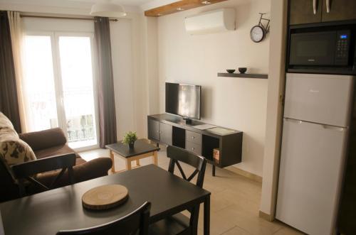 En sittgrupp på Apartamentos Ruisol - Auto checkin