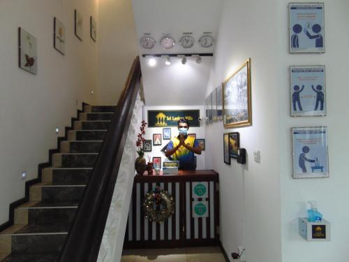 The lobby or reception area at SRI LANKAN VILLA