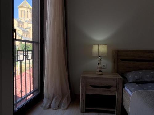 Кровать или кровати в номере SaBa Apartments in Old Tbilisi