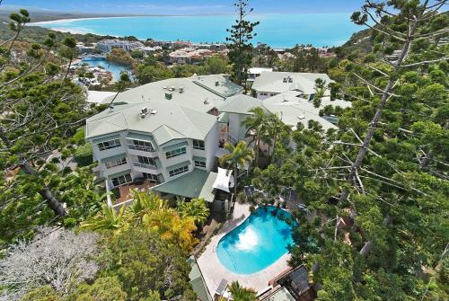 A bird's-eye view of The Lookout Resort Noosa