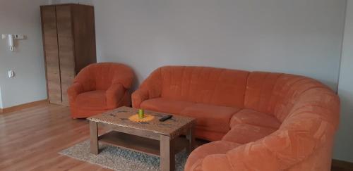 A seating area at Apartament Polanki 14