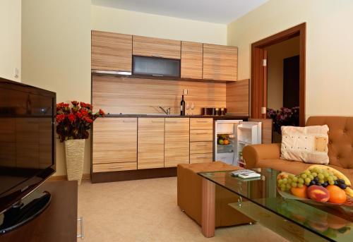 Кухня или кухненски бокс в Апартхотел Стaни Корт