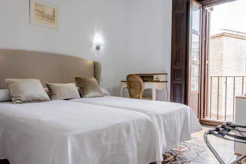 Cama o camas de una habitación en Casona de San Andrés