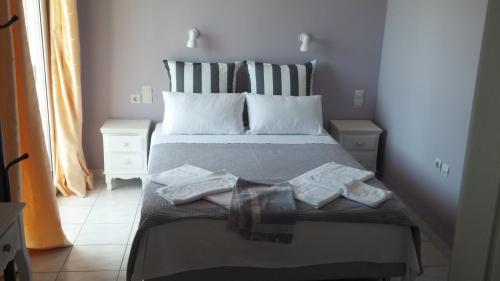 Letto o letti in una camera di Katerina Lefkada