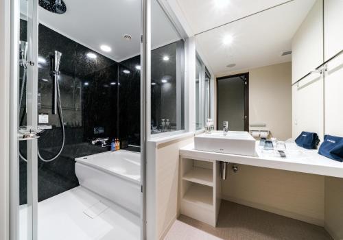 A bathroom at Daiwa Roynet Hotel Aomori