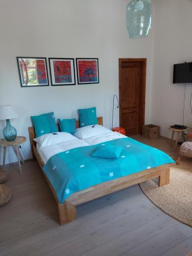 Ein Bett oder Betten in einem Zimmer der Unterkunft Villa Veda