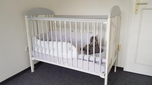 Postel nebo postele na pokoji v ubytování Penzion Prachov