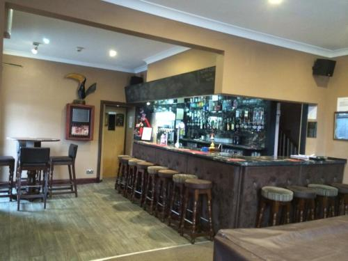 The lounge or bar area at Macbeth Arms