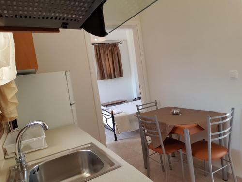 Η κουζίνα ή μικρή κουζίνα στο Domaine Papakonstantis Apartments To Let
