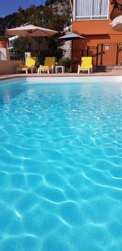 The swimming pool at or near Hôtel La Flore