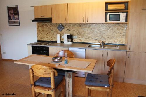 Küche/Küchenzeile in der Unterkunft Am Weiher