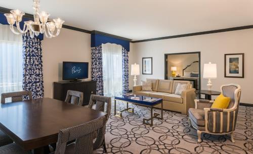 A seating area at Paris Las Vegas Hotel & Casino