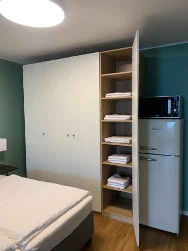 A bed or beds in a room at Apartment Nr 7