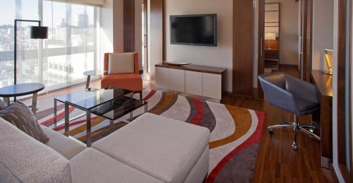 A television and/or entertainment center at Grand Hyatt San Francisco Union Square