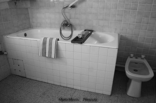Salle de bains dans l'établissement Chateau Rosans