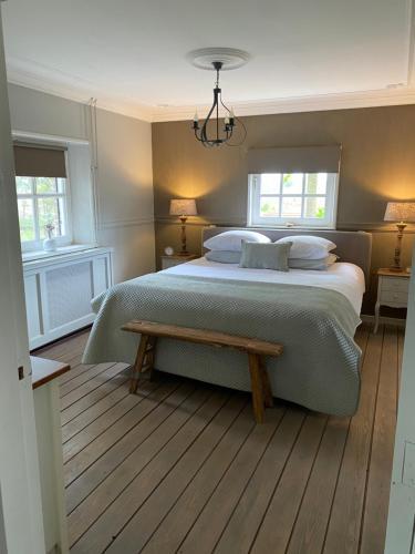 Een bed of bedden in een kamer bij Cassehof