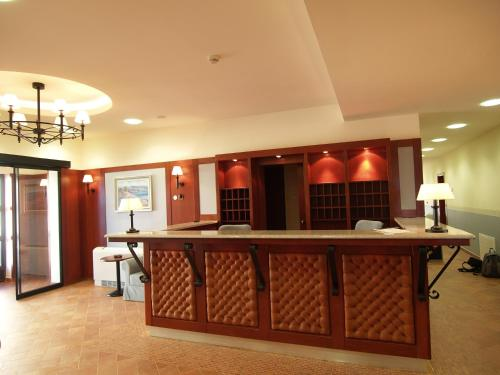 The lobby or reception area at Hotel Laguna