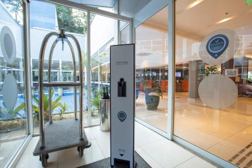 The fitness center and/or fitness facilities at Novotel Sao Paulo Morumbi