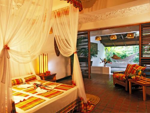 A restaurant or other place to eat at Anse Chastanet Resort