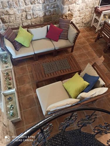 A seating area at Carma
