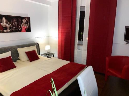 Ein Bett oder Betten in einem Zimmer der Unterkunft Hotel Restaurant Borchard