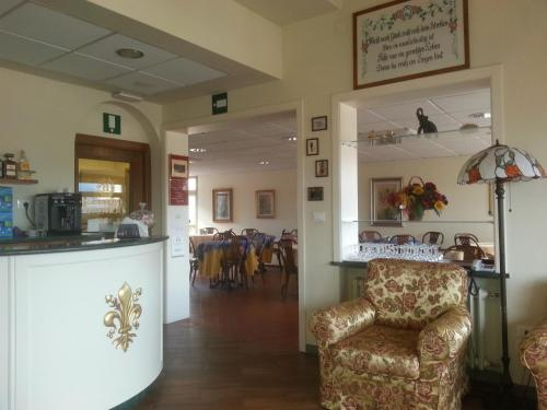 The lobby or reception area at Hotel Bodoni