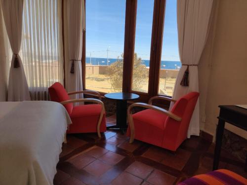 Zona de estar de Hotel Rosario Lago Titicaca