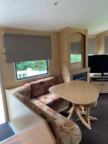 A seating area at 3 Bedroom Caravan - Thorpe Park Haven in Cleethorpes