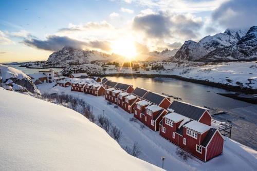 Nyvågar Rorbuhotell - by Classic Norway Hotels om vinteren