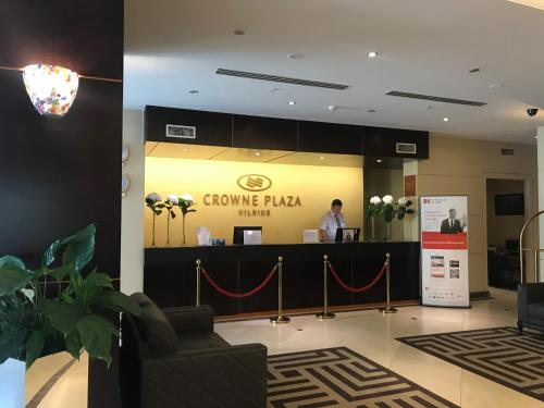 The lobby or reception area at Crowne Plaza Vilnius, an IHG Hotel