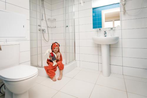 Ванная комната в Гостиница Репинская