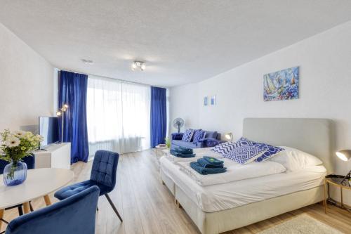 Relax-Apartment mit Indoor-Pool, Sauna, Fitness und Netflix am Bodensee
