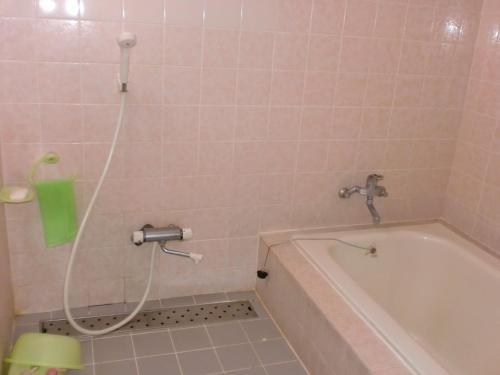 A bathroom at Hoshi Ryokan
