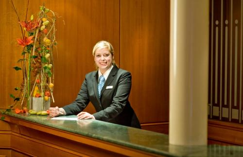 The lobby or reception area at SETA Hotel