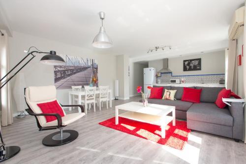 O zonă de relaxare la The Zentral Suites & Apartments