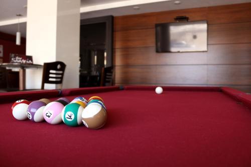 A pool table at San Juan Executive