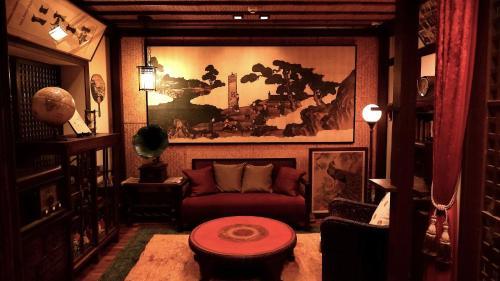 De lounge of bar bij Gionkoh