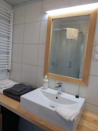 A bathroom at The Blue Beetroot