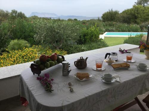 Patio o area all'aperto di Villa Tavolara -Private Pool, to the beach on foot, sea view, all inclusive