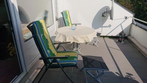 A patio or other outdoor area at Ferienwohnung Bundkirchen