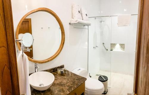A bathroom at Casa Passiflora Hotel Boutique