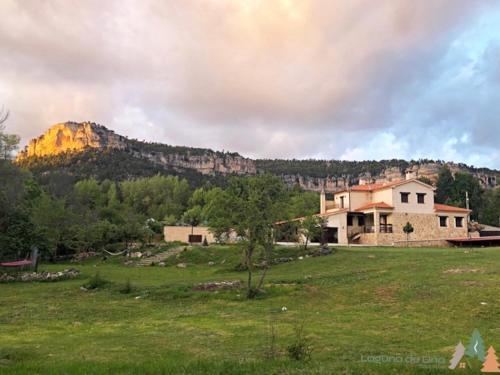 Jardín al aire libre en Casa rural Laguna de Uña
