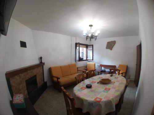 Uma área de estar em Casa Rural Cariño