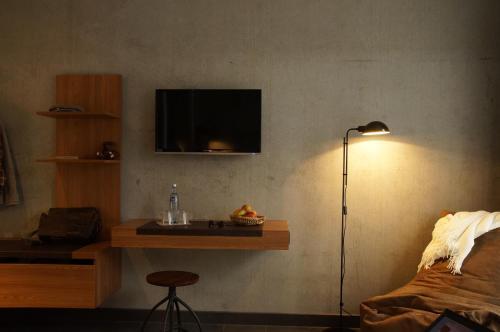 Ein Sitzbereich in der Unterkunft Hotel Restaurant Cosita