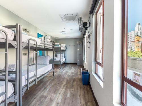 A bunk bed or bunk beds in a room at HI Los Angeles - Santa Monica Hostel