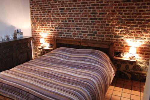 Кровать или кровати в номере B&B La Ferme de l'Apéro