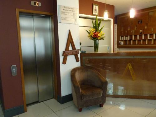 The lobby or reception area at Amsterdam Hotel Brighton